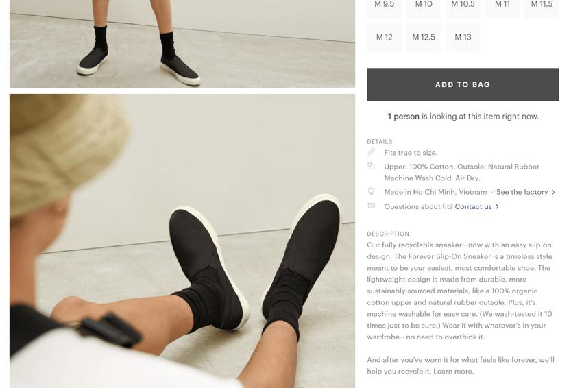 Everlane Forever Slip-On Sneaker Product Description